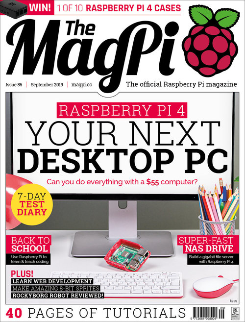 The MagPi Issue 85 cover