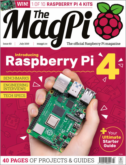 The MagPi Issue 83 cover