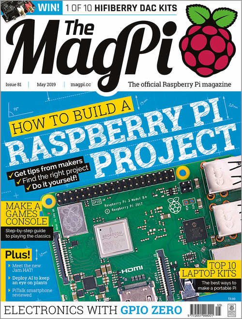 The MagPi issue 81 cover
