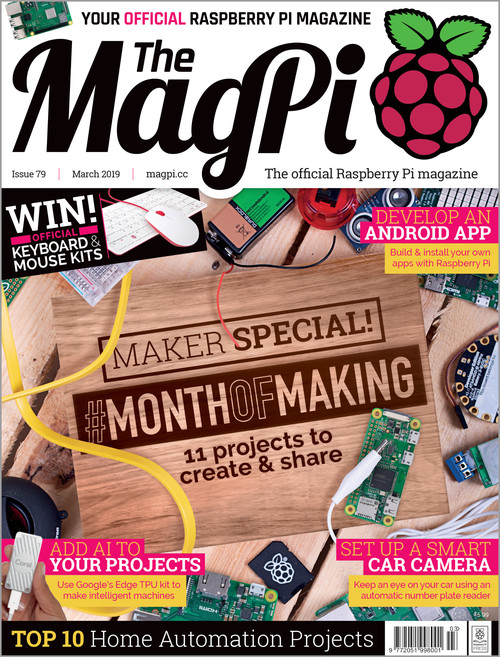 The MagPi issue 79 cover