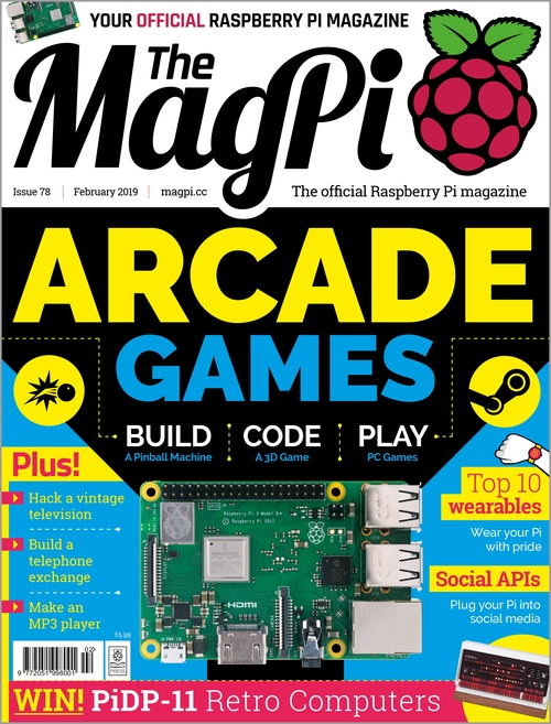 The MagPi issue 78 cover