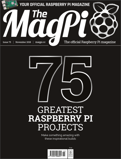The MagPi Issue 75 cover