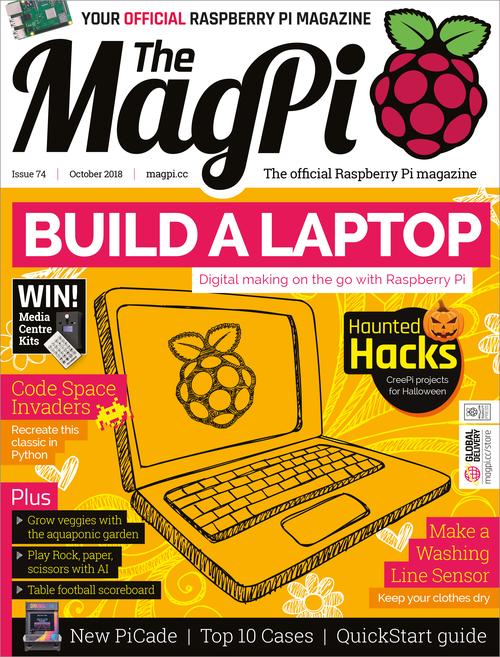The MagPi issue 74 cover