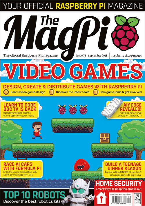 The MagPi issue 73 cover