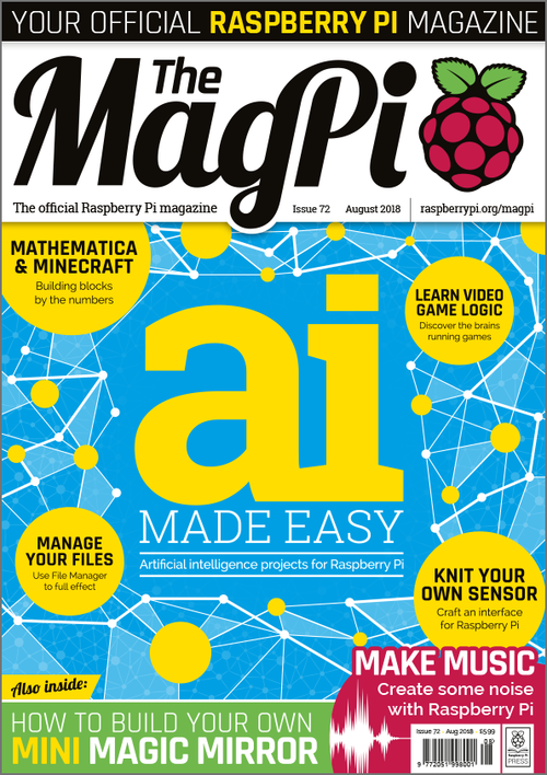 The MagPi Issue 72 cover