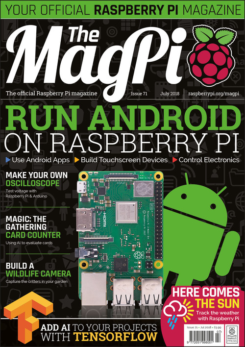 The MagPi issue 71 cover