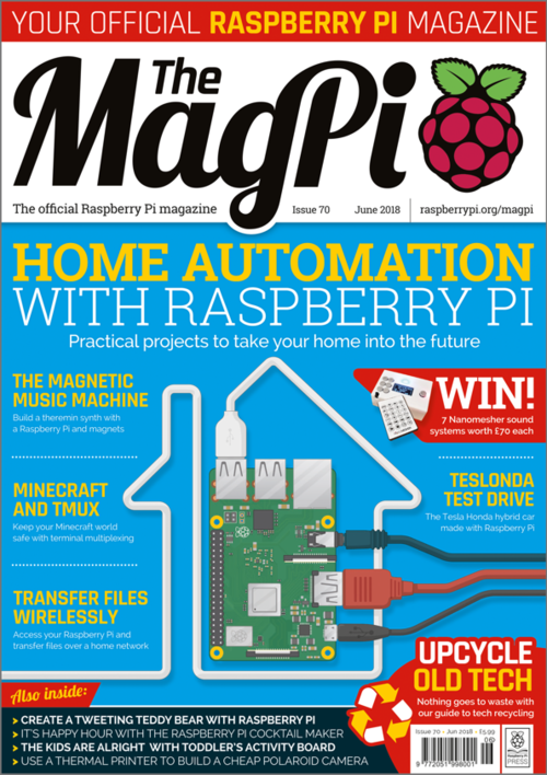 The MagPi issue 70 cover