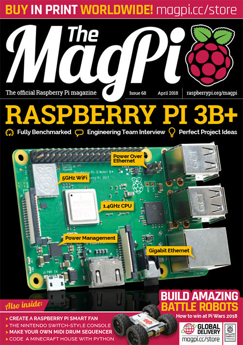 The MagPi Issue 68 cover