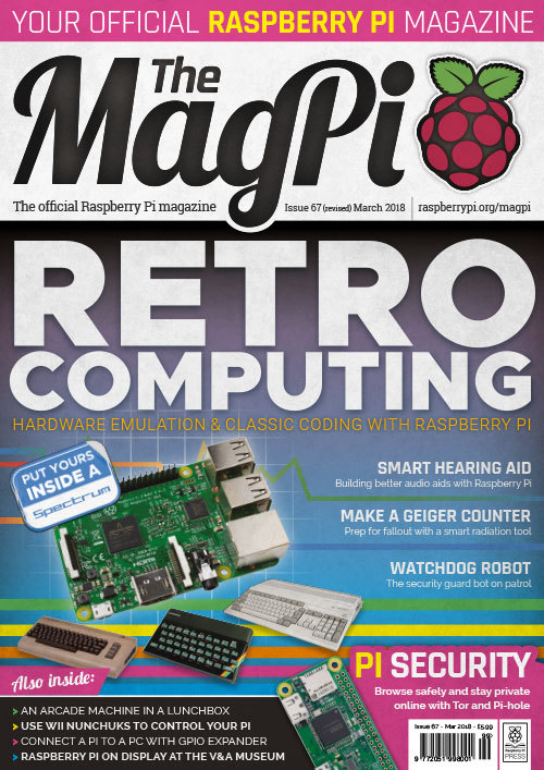 The MagPi issue 67 cover
