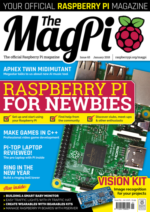 The MagPi Issue 65 cover