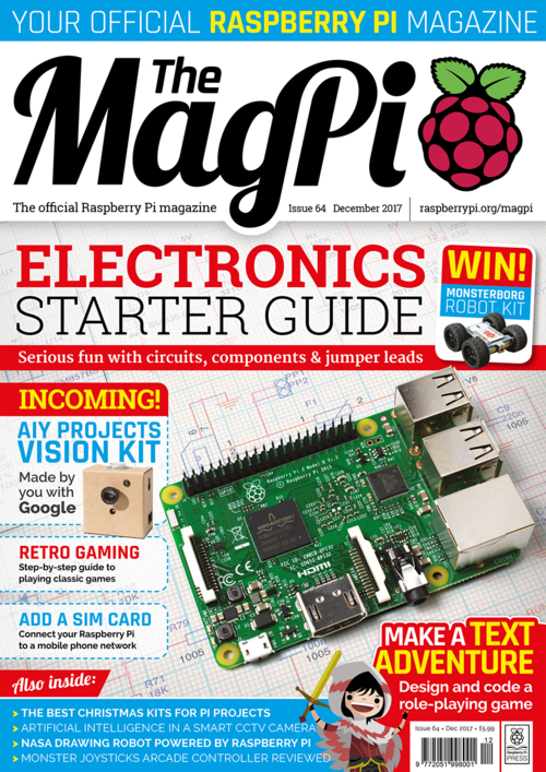 The MagPi Issue 64 cover