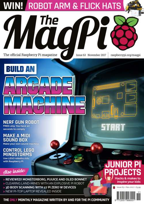 The MagPi issue 63 cover