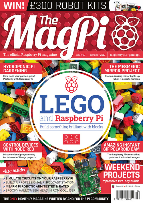 The MagPi issue 62 cover
