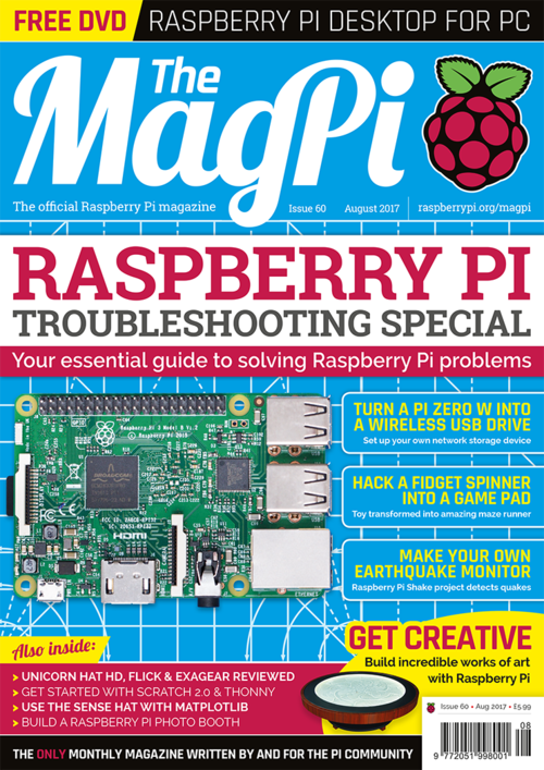 The MagPi Issue 60 cover
