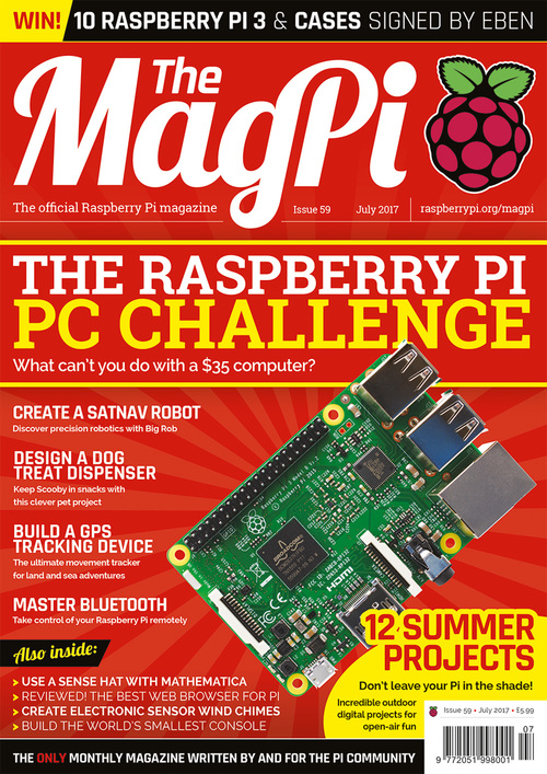 The MagPi Issue 59 cover