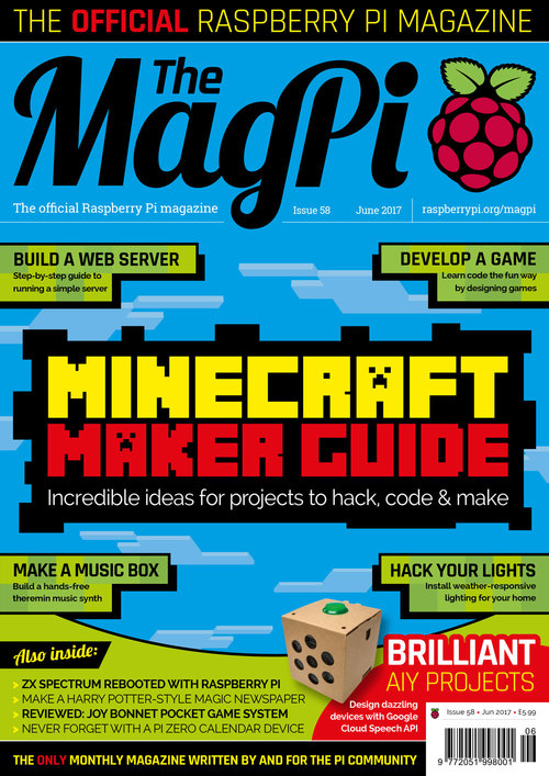 The MagPi Issue 58 cover
