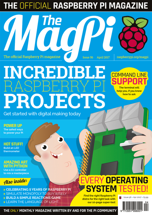 The MagPi issue 56 cover