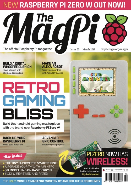 The MagPi issue 55 cover