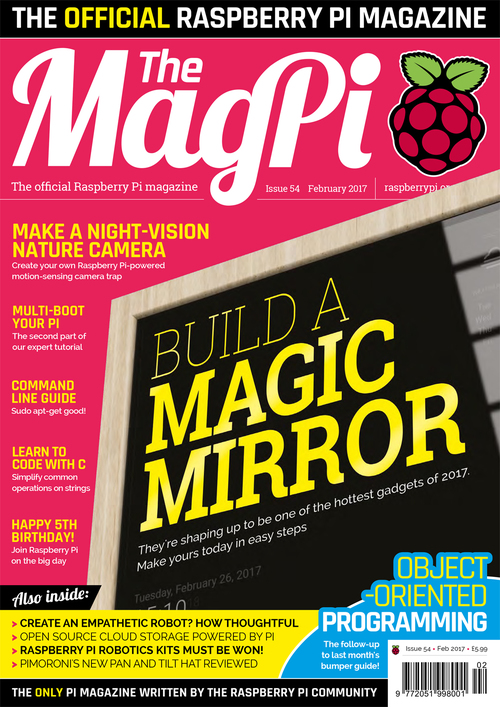 The MagPi issue 54 cover