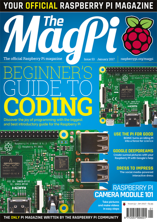 The MagPi issue 53 cover