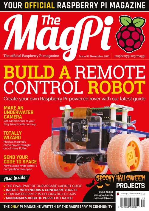 The MagPi Issue 51 cover