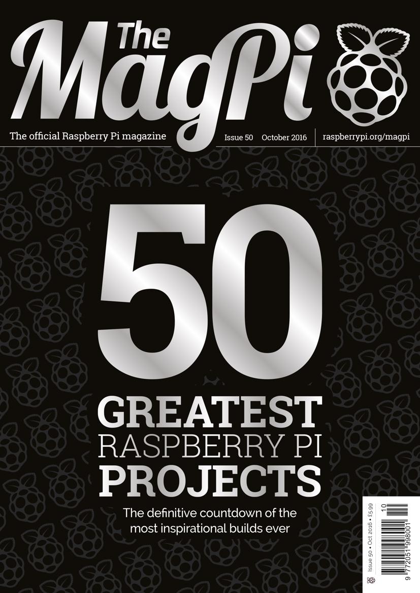 The magpi 50 digital cover
