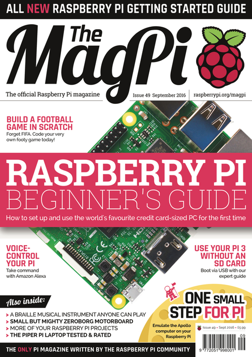 The MagPi issue 49 cover