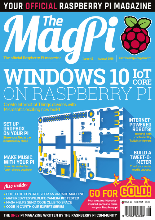 The MagPi Issue 48 cover