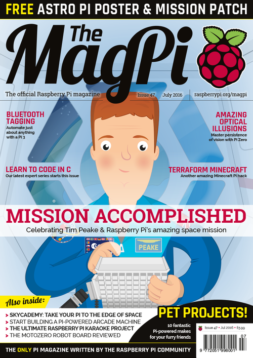 The MagPi Issue 47 cover