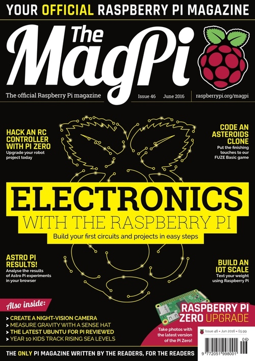 The MagPi issue 46 cover