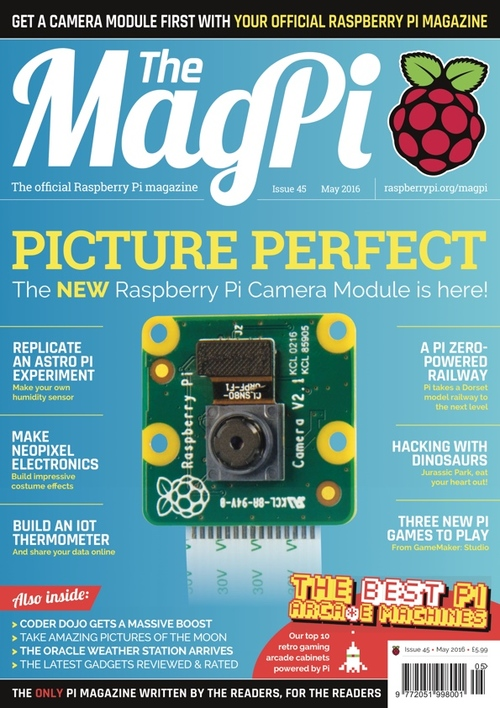 The MagPi issue 45 cover