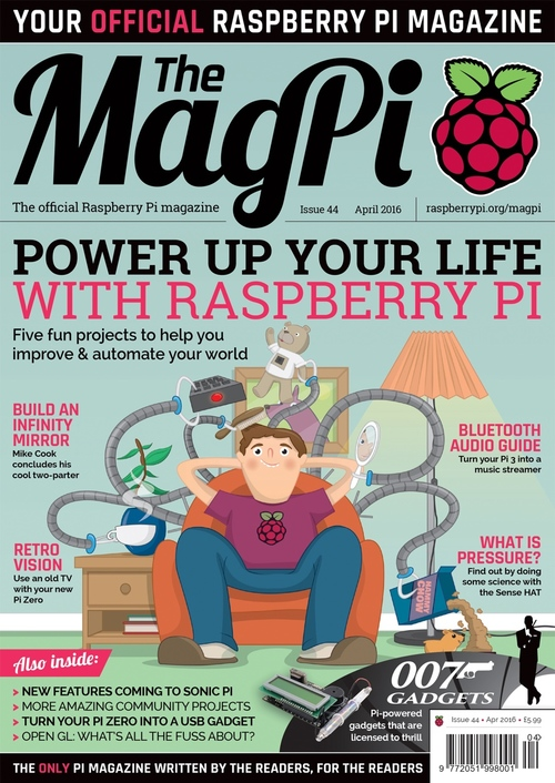 The MagPi issue 44 cover