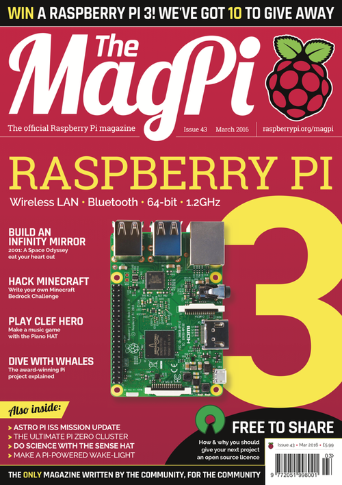 The MagPi issue 43 cover