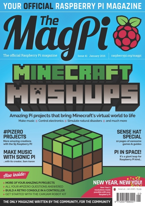 The MagPi issue 41 cover