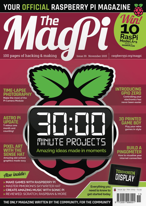 The MagPi issue 39 cover
