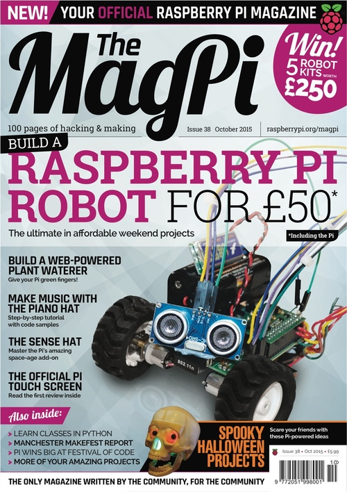 The MagPi issue 38 cover
