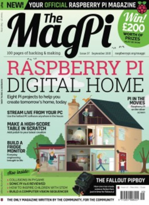 The MagPi issue 37 cover