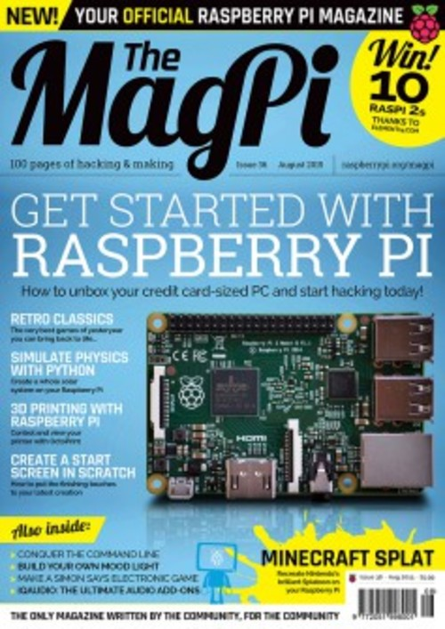 The MagPi issue 36 cover