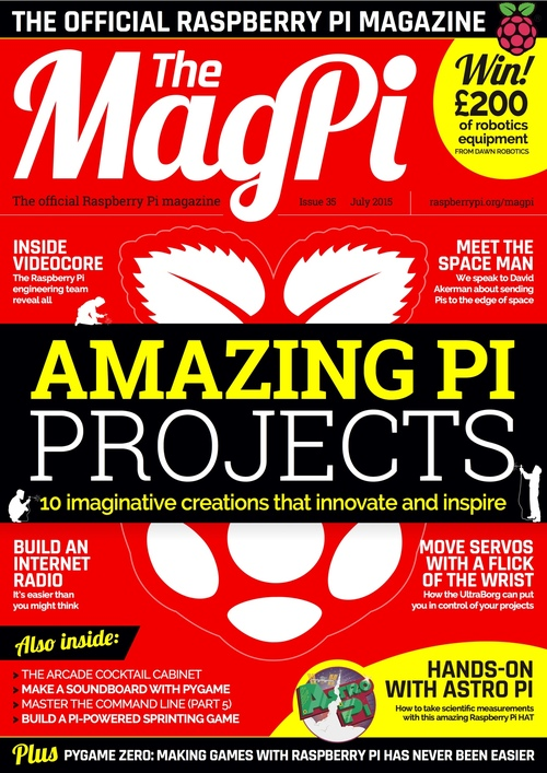 The MagPi issue 35 cover