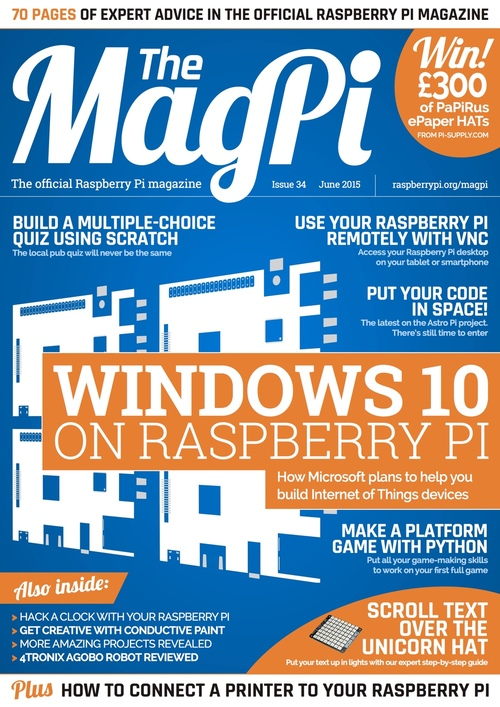 The MagPi issue 34 cover