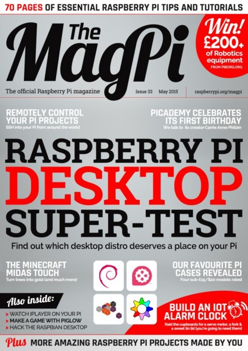 The MagPi Issue 33 cover