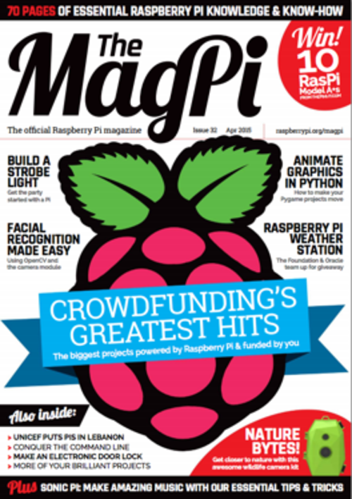 The MagPi issue 32 cover
