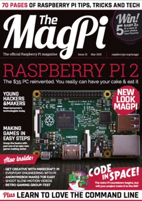 The MagPi issue 31 cover