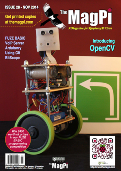 The MagPi issue 28 cover