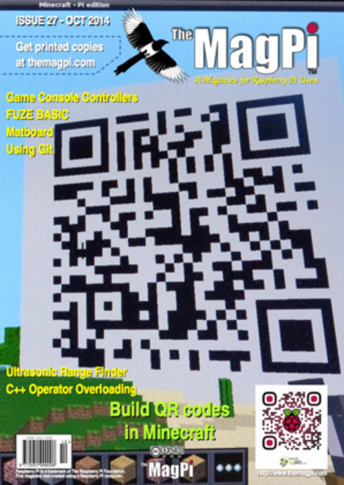 The MagPi issue 27 cover