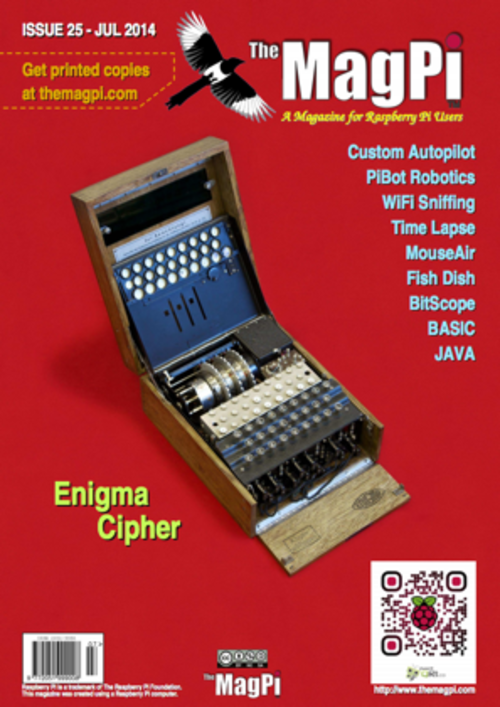 The MagPi issue 25 cover
