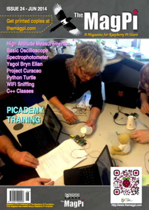 The MagPi Issue 24 cover