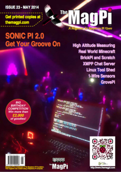 The MagPi issue 23 cover