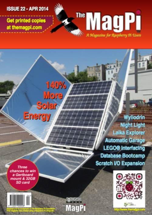 The MagPi issue 22 cover