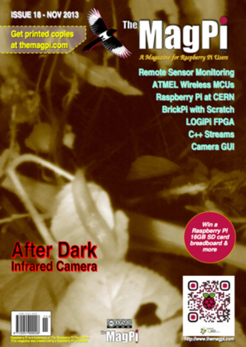 The MagPi issue 18 cover